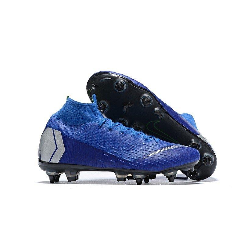 check out 8a03b 1da08 Nike Mercurial Superfly 360 Elite SG Azul/Logo Prata
