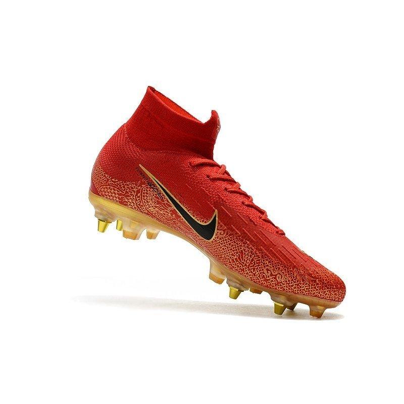 Nike Mercurial Superfly 360 Elite SG Vermelho Pontinhos dourados Logo  Preta. 0% OFF 650b7471b6f92