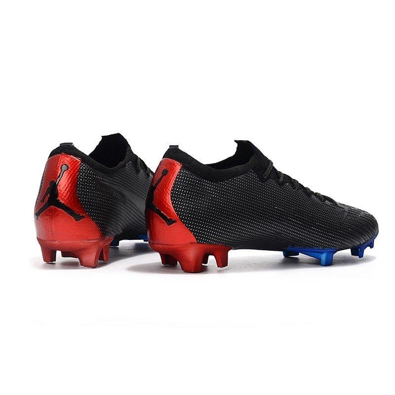 more photos 6f478 ac078 Nike Mercurial Vapor XII Elite Flyknit Ultra Jordan x PSG Preto/Detalhes  Azul e Vermelho