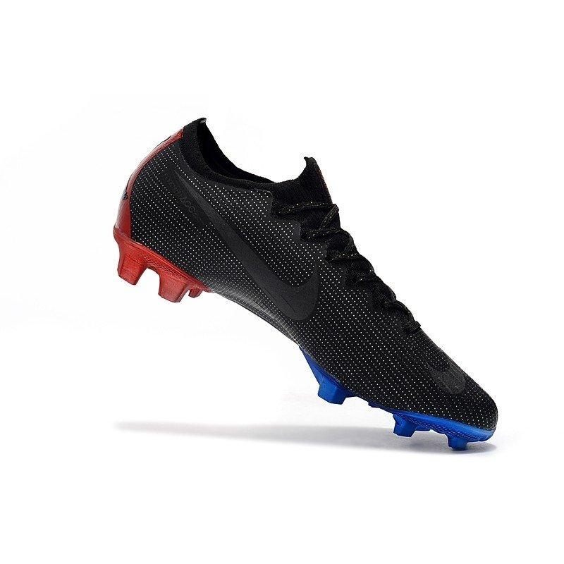 more photos 588f2 70293 Nike Mercurial Vapor XII Elite Flyknit Ultra Jordan x PSG Preto/Detalhes  Azul e Vermelho