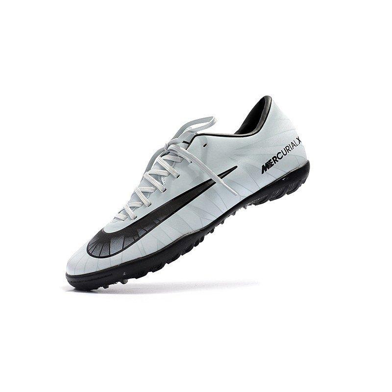12ea4f9120 Tênis Nike Mercurial SuperFly V Low TF Cinza Espelhado Logo Preta