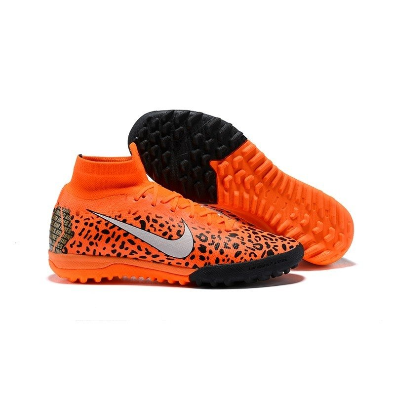 f118689df6 Tênis Nike Mercurial Society Superfly VI Laranja Pontinhos Pretos