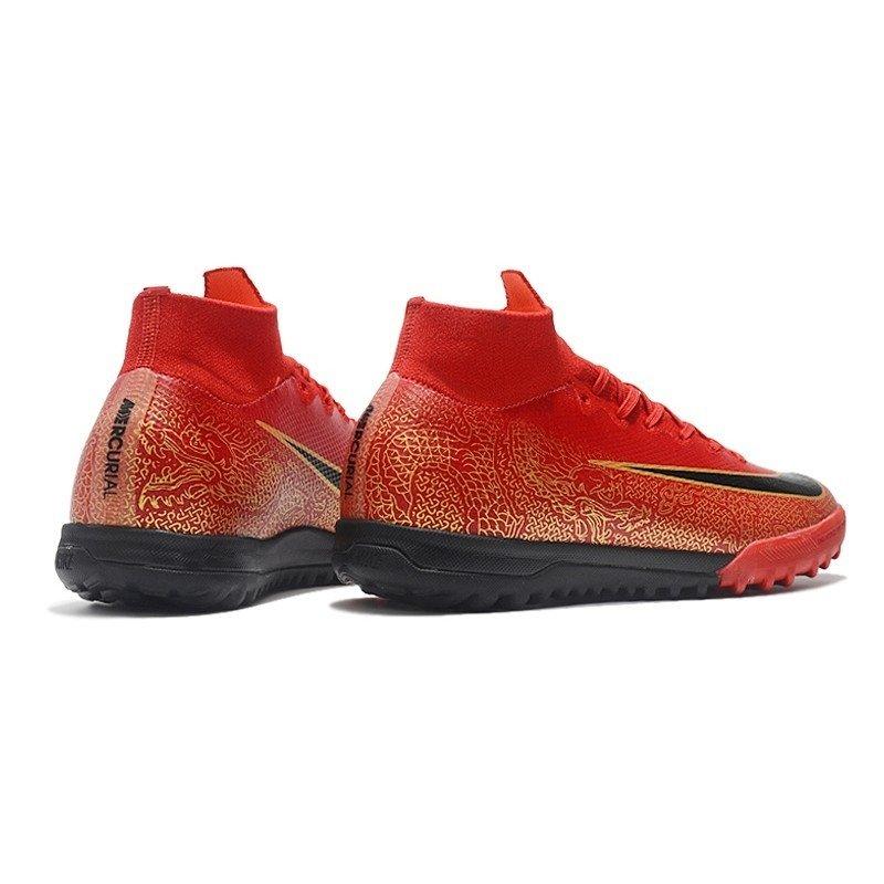 2d4e9f60d9985 Tênis Nike Mercurial Society SuperFly VI Vermelho Dragão Dourado CR7