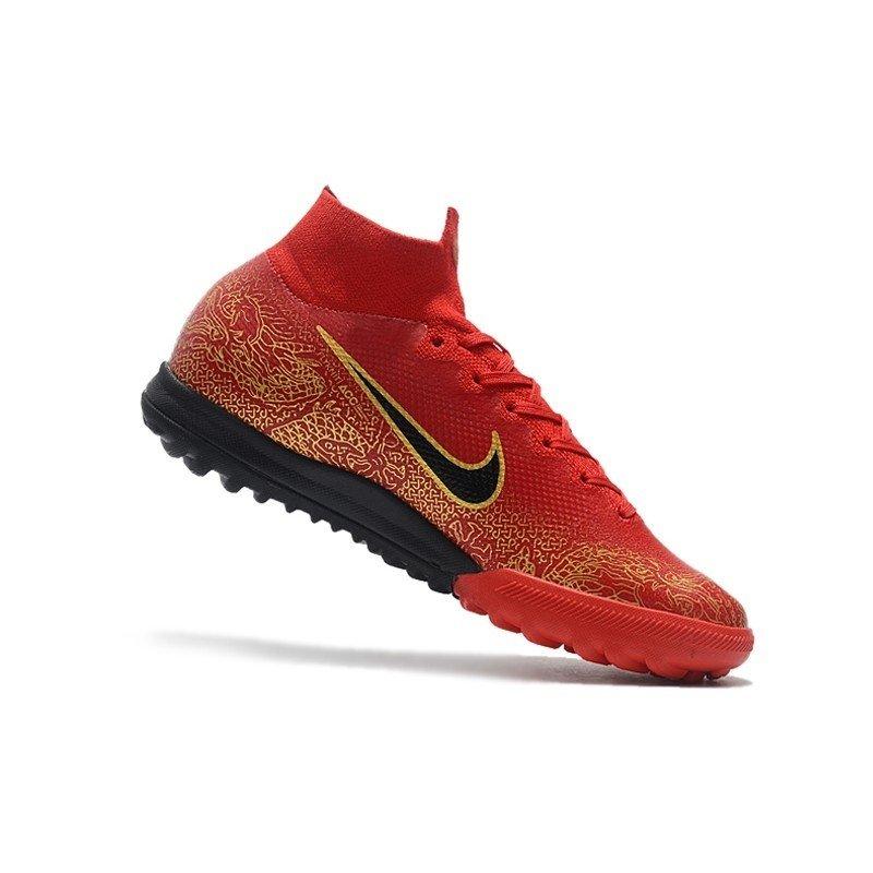 f20f2987e1bf5 Tênis Nike Mercurial Society SuperFly VI Vermelho Dragão Dourado CR7. 1