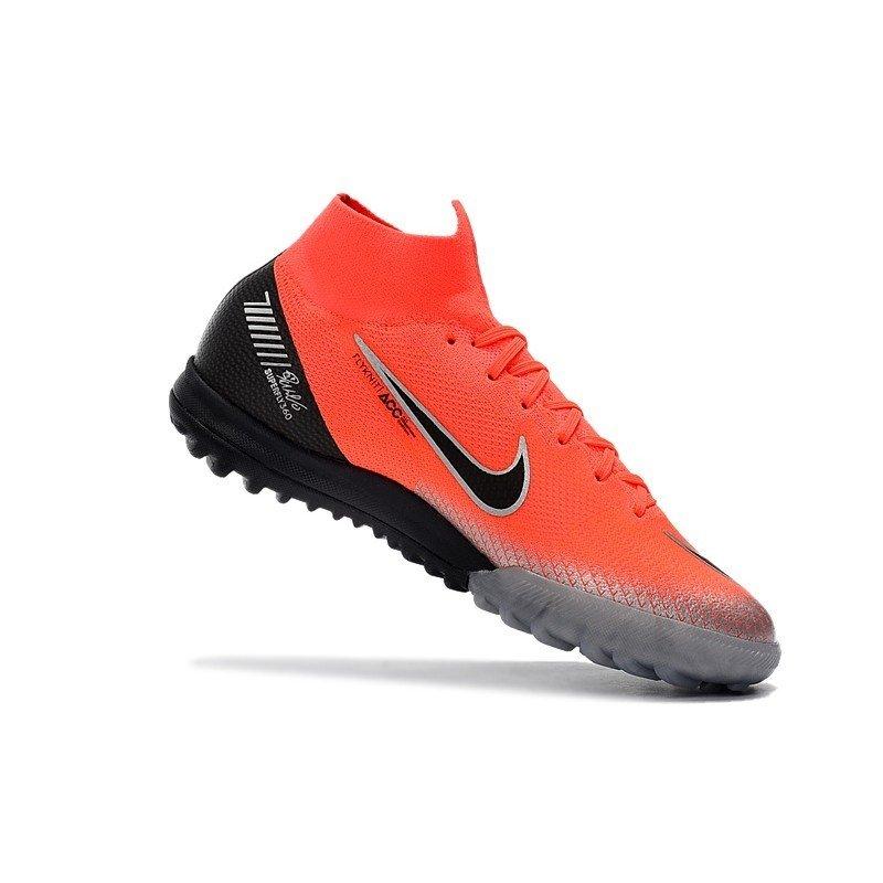 Tênis Nike Mercurial Society SuperFly VI Vermelho Ponta Cinza Calcanhar  Preto. 1 4729a610e0c3b