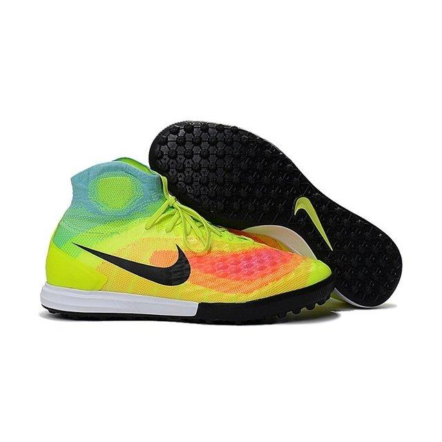 ee40721e23 Tênis Nike Obra Magista Il Society Amarela Laranja