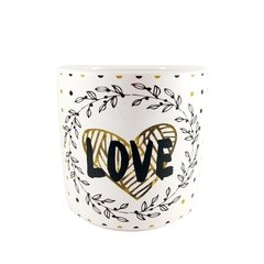 VASO CERÂMICA LOVE AND FLOWERDS - comprar online