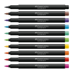 Caneta Brush Pen 10 Cores Supersoft (Faber Castell) - comprar online