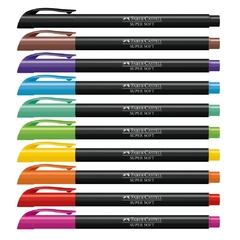 Caneta Brush Pen 10 Cores Supersoft (Faber Castell) na internet