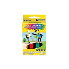 COLA COLORIDA 4 CORES 23GRS (ACRILEX)