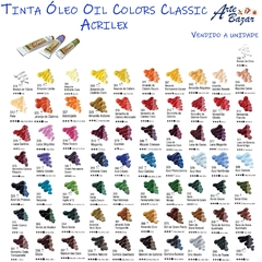TINTA ÓLEO OIL COLORS CLASSIC 20ml (ACRILEX)