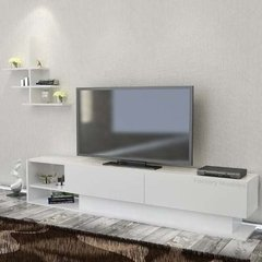 Mesa Modular Rack Tv Led Estantes Madrid Factory Muebles