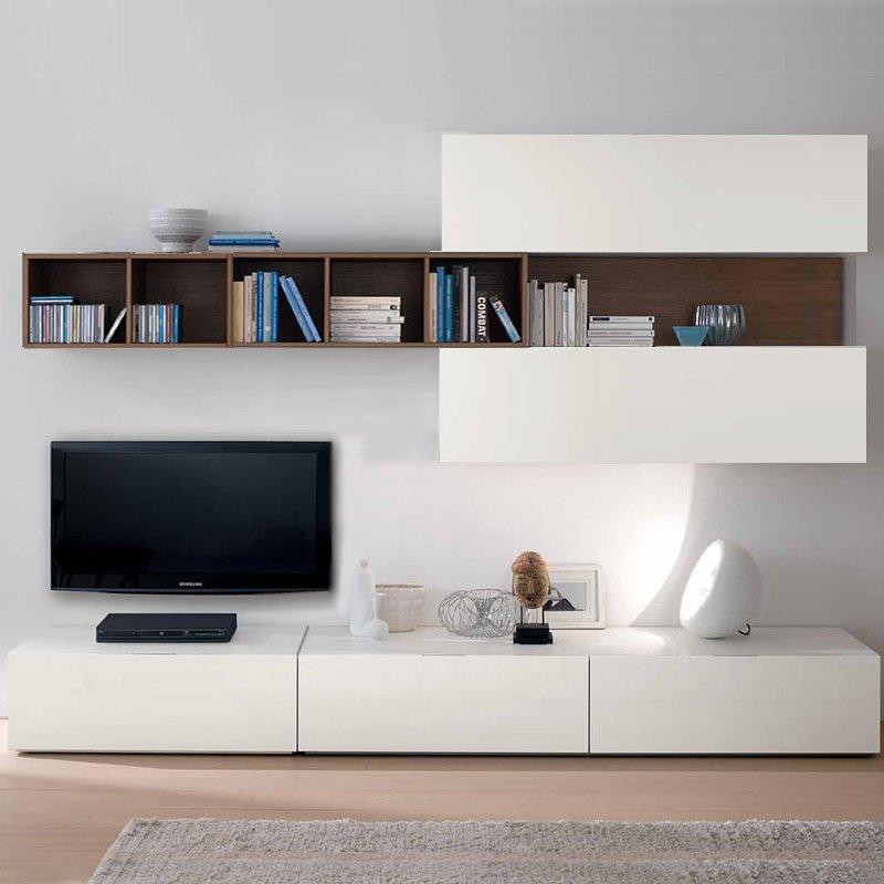 Modular rack mesa para tv biblioteca melamina modelo badajoz - Fotos muebles para tv ...