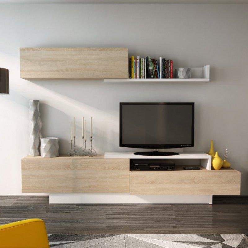 Rack Modular Moderno Tv Mesa Factory Muebles Melamina Merida Promo