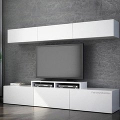 Modular Rack Mesa Tv Led Melamina Sevilla Factory Muebles