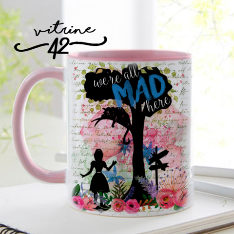 Caneca - Alice - Mad Here