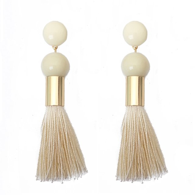Brinco Vida Tassel - Off White