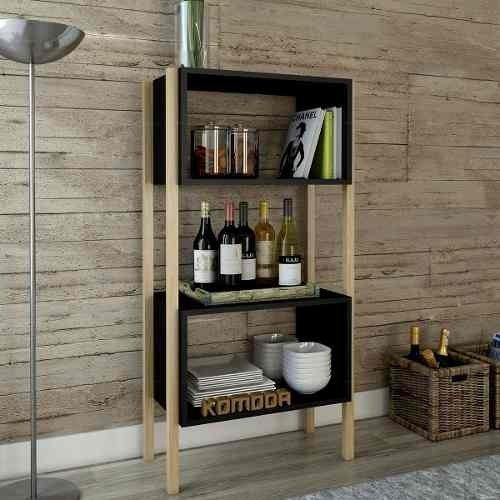 Mueble Wood Escandinavo Vajillero Estante Para Comedor