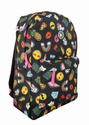 Mochila Feminina Escolar Emoji Unicórnio C/ Patches Mf8108 na internet