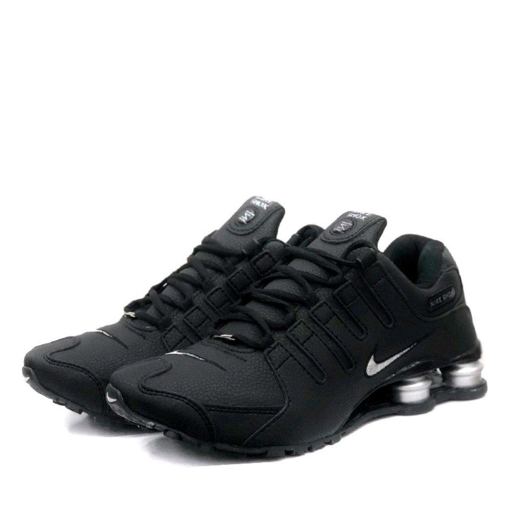 táctica Impresionante Ensangrentado  Tênis Nike Shox nz 4 molas preto e prata - Fwstoree