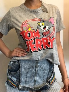 remera algodon   tom y jerry