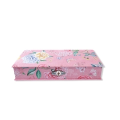 CAJA CHICA FLORAL ROSA