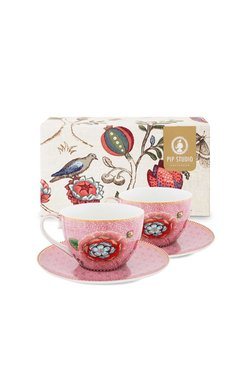 SET 2 TAZAS CON PLATO CAFE SPRING TO LIFE ROSA en internet