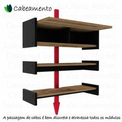 Suporte Rack P/ Tv, Video Games, Xbox One, Ps4 - Preto - La RoOteria Atelier
