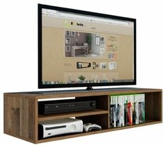 Ra03 - Mdf - Suporte, Rack Para Dvd, Blue Ray, Cd´s E Tv