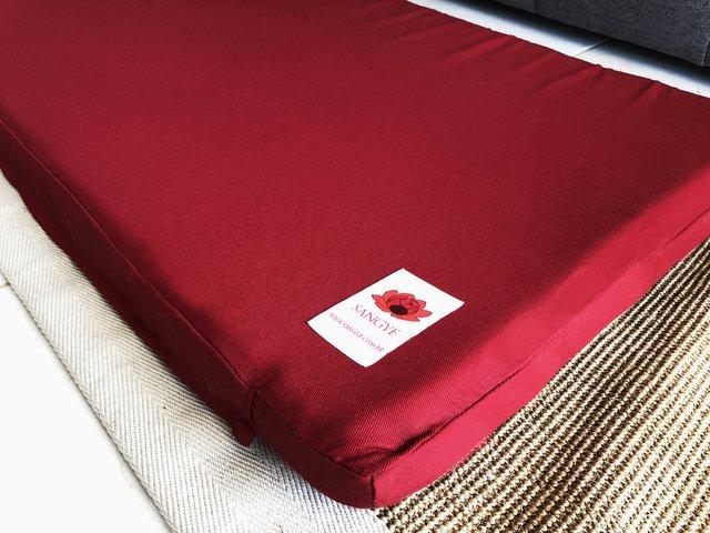 zabuton vermelho tradicional sangye sangye