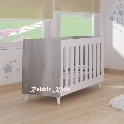 Cuna Charriot Convertible Escritorio,retro 120x60 Rabbitkids