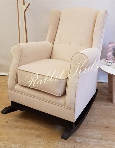 Sillon Mecedor Berger, Sillon Ideal Para Amamantar En Pana - Rabbit Kids