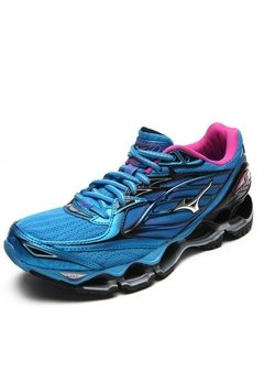 Tênis Mizuno Wave Prophecy 6 Azul / Rosa - Site Oficial RT Shoes