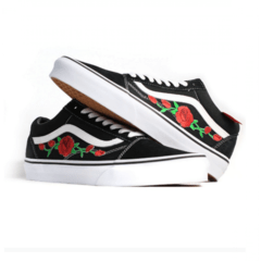 Tênis Vans Old Skool Black Rose na internet