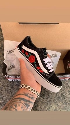 Tênis Vans Old Skool Black Rose - Site Oficial RT Shoes