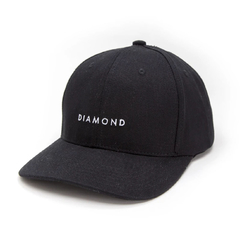 Boné Diamond Leeway Baseball Strapback Black