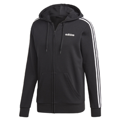 Moletom Adidas Essentials 3 Stripes Black/White