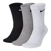 Nike Everyday Cushioned Crew 3 Pares Preto/Branco/Cinza - comprar online