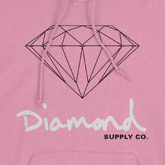 Moletom Diamond OG Sign Hoodie Pink na internet
