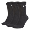 Nike Everyday Cushioned Crew 3 Pares Preto