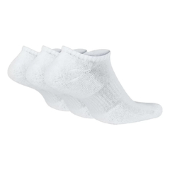 Meia Nike Everyday Cushioned No-Show 3 Pares Branco - comprar online
