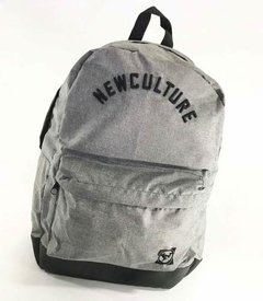 Mochila New Skate Cinza Mescla School Original - HB Point