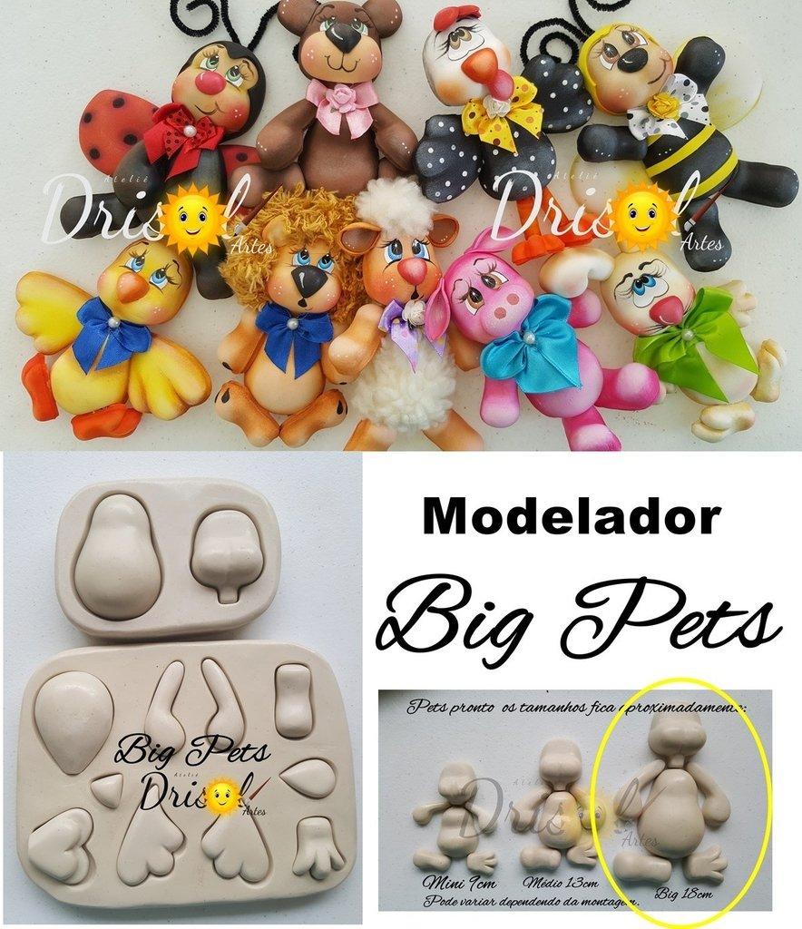 Modelador de resina Big Pets - cód  758 - Drisol Artes 3c5e096dfe