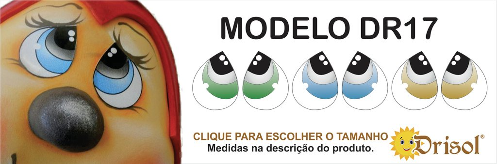 ADESIVO DE OLHO DR17 - Comprar em Drisol Artes 393f42c6ee