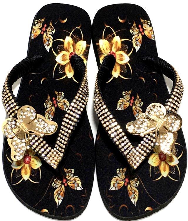 35afda291 Chinelo Havaianas Top Personalizado Borboleta Dourada Strass - comprar  online
