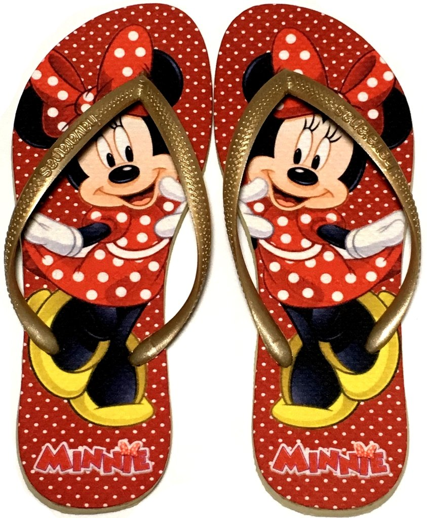 3ce4bac3a2 Chinelo Havaianas Slim Personalizado Minnie vermelha