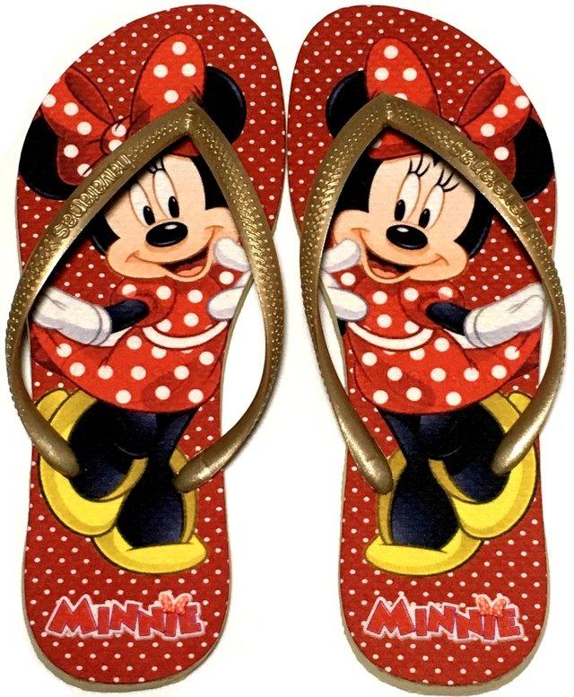 971989d0a Chinelo Havaianas Slim Personalizado Minnie vermelha