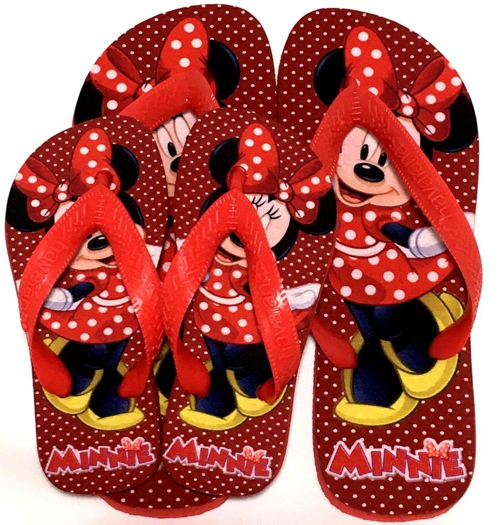 a0b3f9b073 Chinelo Personalizado Havaianas Minnie Vermelha Top