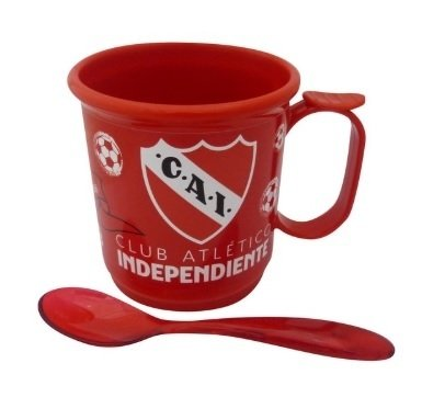 TAZA PLASTICO C/ CUCHARITA INDEPENDIENTE