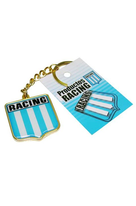 LLAVERO ESCUDO METAL RACING